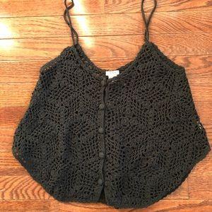 Knit crop tank